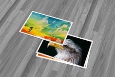 3D Postcard Mockup Template