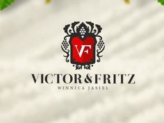 Dribbble - Victor Fritz by element media #crown #vine #wine #grape #heraldic #logo