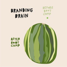 Illustrations—branding brain before and after boot camp. | 2016 Advertising Boot Camp from McKee Wallwork + Co. | Illustration and design by Brittany Byrne, copywriting by Maria Anderson