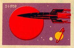 SOVIET SPACE RACE #soviet #space #rocket #stamp #illustration #design