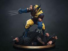 Wolverine vs Ninja Diorama