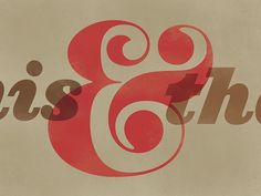 """Beautiful Type — """"This and That"""" , a recent revival of Pistilli... #typography"""