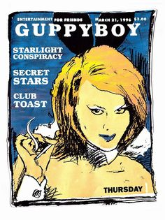 Thursday, April 17, 2014 #guppyboy #silkscreen #poster