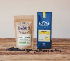Wells Coffee #packaging #typography
