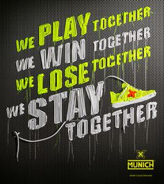Artwork for MUNICH sports 2013 #cover #munich #typography