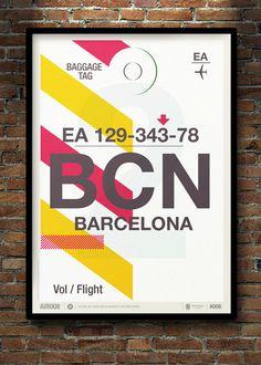Flight Tag Prints #flight #print #tag #minimal #poster