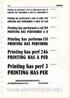 Valiant type specimen #type #specimen #typography