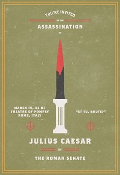 Invitation To An Assassination #assassination #julius #caesar #invitation