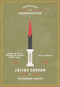 Invitation To An Assassination #assassination #julius #caesar #invitation