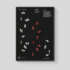 "Ross Gunter  |  http://rossgunter.com""A selection of posters to promote this years Dimensions Festival and their partners. Each poster #poster #typography"