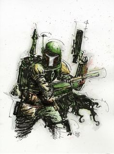ss+ESB+Boba+Fett001.jpg (641×863) #boba #young #skottie #wars #fett #illustration #star