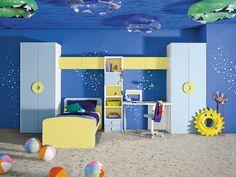 Painting Room With Hues Of Blue - www.homeworlddesign. com (3) #design #decor #blue #room #decoration