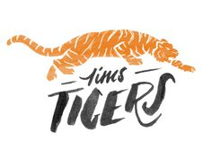 team logos! #handtype #typography #sketch # illustration # doodle #tiger