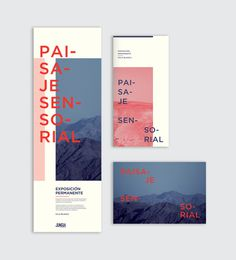 Paisaje sensorial | Exhibition on Behance #branding #modern #booklet #clean #alignment