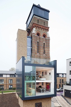 Old water tower with small extensions