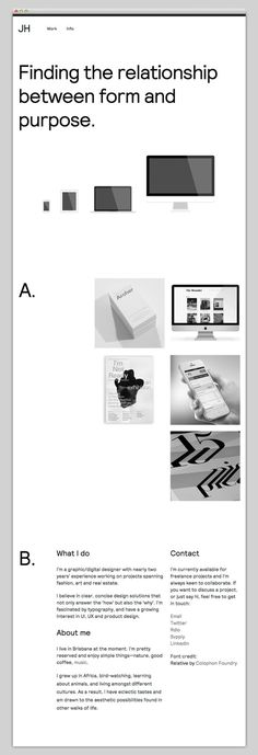 JH #website #layout #design #web