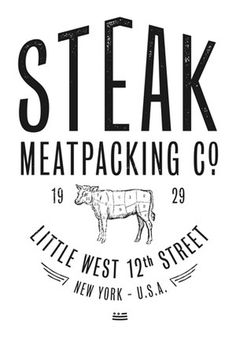 Steak Me on Behance #old #design #graphic #cow #vintage #logo #meatpacking