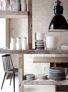 Kitchen shelves #interior #design #decor #deco #decoration