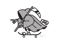 Designersgotoheaven.com - Ride Fast, Live Long by Chris DeLorenzo. #skater #reaper