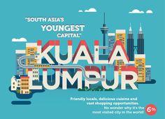 Kuala Lumpur city guide #kula #guide #city #infographic #design #lumpur #malaysia