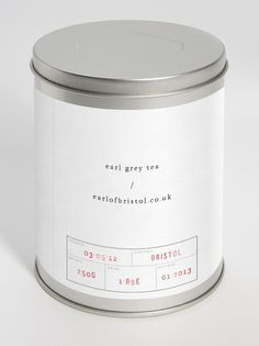 Earl/Grey on the Behance Network #graphic design #packaging