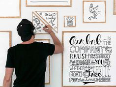 Timothy Goodman: Airbnb Installation / on Design Work Life #goodman #illustration #timothy #drawing #typography