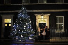 20 Premier Christmas tree on Downing street in London