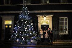 20 Premier Christmas tree on Downing street in London