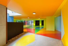 Creative Review - Craig & Karl's colourful car park #bright #painted #car #park