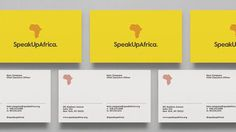 SpeakUpAfrica — Dia #card #identity #typography
