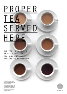 Fonts In Use – All About Tea #typography