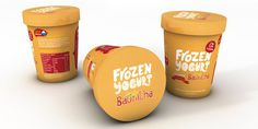 Frozen Yogurt The Dieline #packaging #type #ice #cream