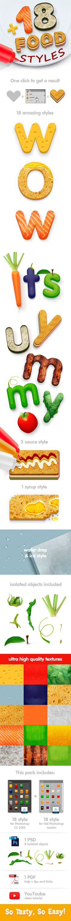 18 Food Photoshop Styles