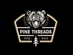 Pine Threads Bear Crewneck