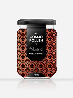 Cosmopollen Urban Honey (Madrid) - Louise Twizell #branding #packaging #food #jar #honey #abstract #louise #white #pattern #label #brand #architecture #simplistic #madrid #package #spain #black #simple #labelling #taste #europe #twizell