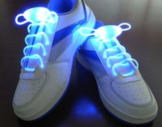 Blue Flammi LED Shoelaces Light Up Shoe Laces