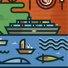Montevideo on Behance #illustration