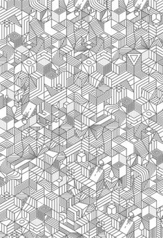 Illustration | nvlnvl #pattern #white #black #geometric #illustration