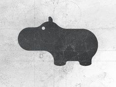 Hippo logo design by Gert van Duinen #logo #animal #iconography #hippo