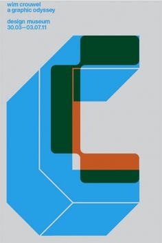 Design Museum Shop: Exhibition Products > Current Exhibitions > Wim Crouwel, A Graphic Odyssey > Wim Crouwel Exhibition Poster #london #print #design #exhibition #spin #crouwel #poster #wim #typography
