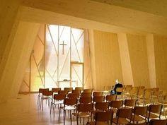 Atelier A+D: Chapelle de St-Loup #plate #interiors #wood #architecture #folded