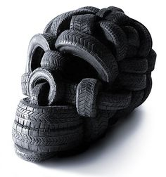 this isn't happiness™ #skull #tyre
