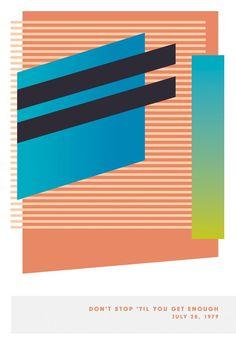 James Kirkup | Foragepress.com #poster #music #minimal stripes