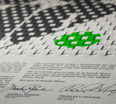 Nike 2010 World Cup Invitation - NMK #print #weave