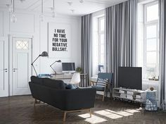 living room, work space