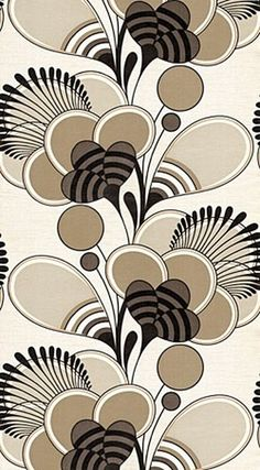 838l.jpg (JPEG Image, 250x453 pixels) #pattern #brown #vintage #flower #wallpaper