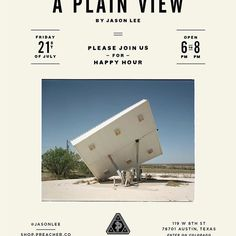 "For those of you who've asked about more dates to check out @jasonlee and ""A Plain View"", we're hosting a happy hour this Friday from 6-8pm."
