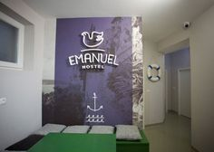 Emanuel Hostel by Lana Vitas Gruic #interior #design #graphic #architecture #type #typography