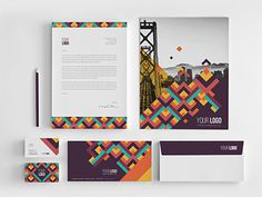 Colorful Pattern Stationery. Download here: http://graphicriver.net/item/colorful-pattern-stationery/7850788?ref=abradesign #pattern #modern #hipster #retro #geometric #minimal #vintage #stationery