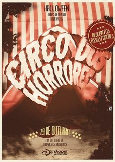 Halloween Circo dos Horrores | Flickr - Photo Sharing! #halloween #design #horror #circus #circo #bigode #drops #moustache